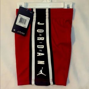 ⭐️HP⭐️ [ Air Jordan] Red Gym Shorts Dri-Fit NWT 3T